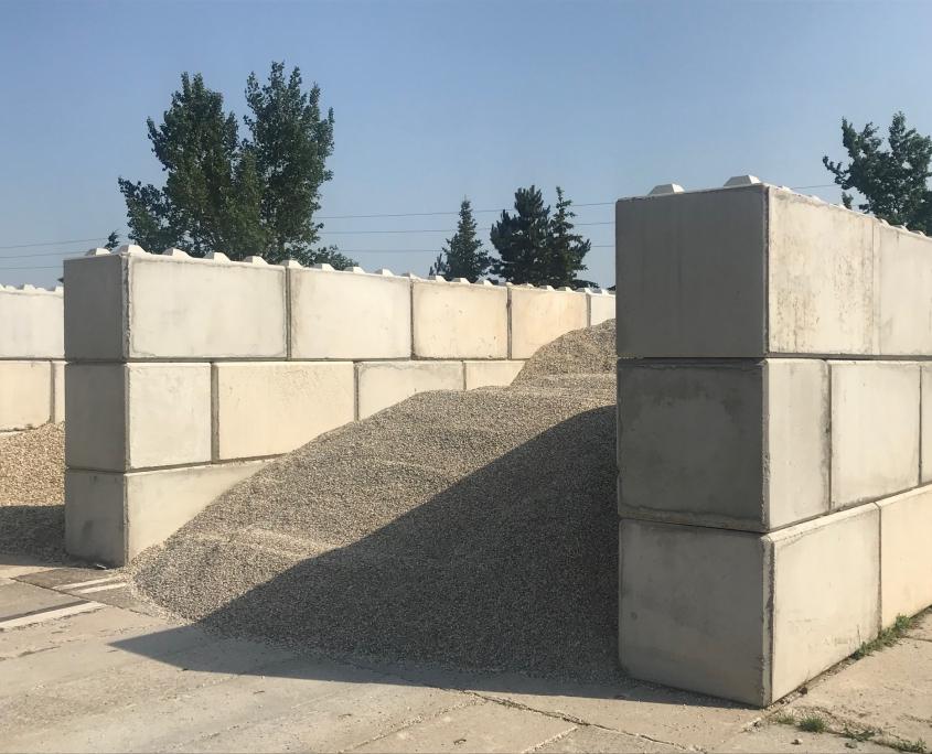 Betonblock - Konstruktion für Schüttgüter